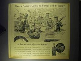 1943 Coca-Cola Soda Ad - Break the Ice in Iceland - $14.99
