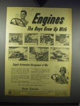 1943 Chrysler Engines Ad - Boys Grew Up With - $14.99
