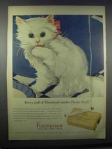 1943 Fleetwood Cigarettes Ad - Every Puff Cleans Itself - $14.99