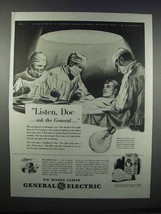 1943 General Electric Mazda Lamps Ad - Listen, Doc - $14.99