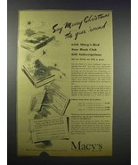 1943 Macy's Department Store Ad - Say Merry Christmas - $14.99