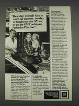 1982 GM Continuous Protection Plan Ad - Watch Expenses - $14.99