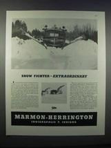 1946 Marmon-Herrington Ford Truck Snow Plow Ad - $14.99