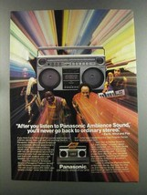 1982 Panasonic RX-5085 Stereo Ad - Earth, Wind and Fire - $14.99