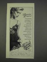 1982 Victoria's Secret Lingerie Ad - Beautiful - $14.99