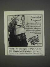 1982 Victoria's Secret Lingerie Ad - $14.99