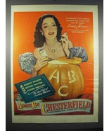 1947 Chesterfield Cigarettes Ad - Dorothy Lamour - $14.99