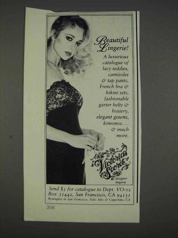 1982 Victoria's Secret Lingerie Ad - Beautiful Lingerie - NICE - $14.99