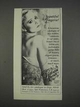 1982 Victoria's Secret Lingerie Ad - Beautiful Lingerie - $14.99