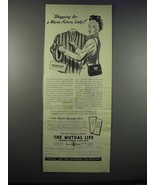 1947 The Mutual Life Insurance Company of New York Ad - $14.99