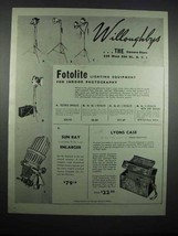 1947 Willoughby's Ad - Fotolite Lighting Equipment - $14.99