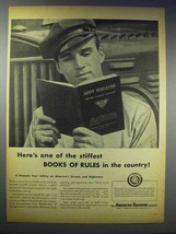 1948 American Trucking Industry Ad - Stiffest Rules - $14.99