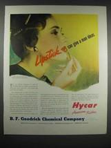 1948 B.F. Goodrich Hycar American Rubber Ad - Lipstick - $14.99