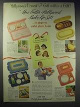 1948 Max Factor Make-up Set Ad - Pan-Cake, Vanity - $14.99