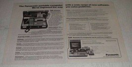1982 2-page Panasonic The Link Portable Computer Ad - $14.99