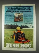1982 Bush Hog TM-5 Cutter Ad - Manicure a Lawn - $14.99