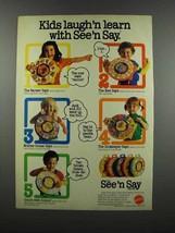 1983 Mattel See 'n Say Ad - Kids Laugh'n Learn - $14.99