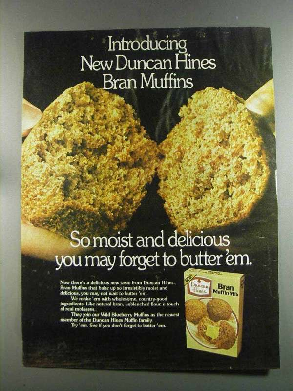 Primary image for 1982 Duncan Hines Bran Muffin Mix Ad