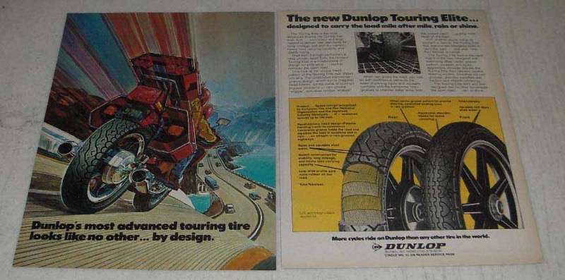 Primary image for 1982 Dunlop Touring Elite Motorcycle Tires Ad