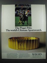 1983 Piaget Polo Watch Ad - World's Ultimate Sportswatch - $14.99
