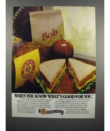 1983 Roman Meal Bread Ad - Know What's Good For You - $14.99