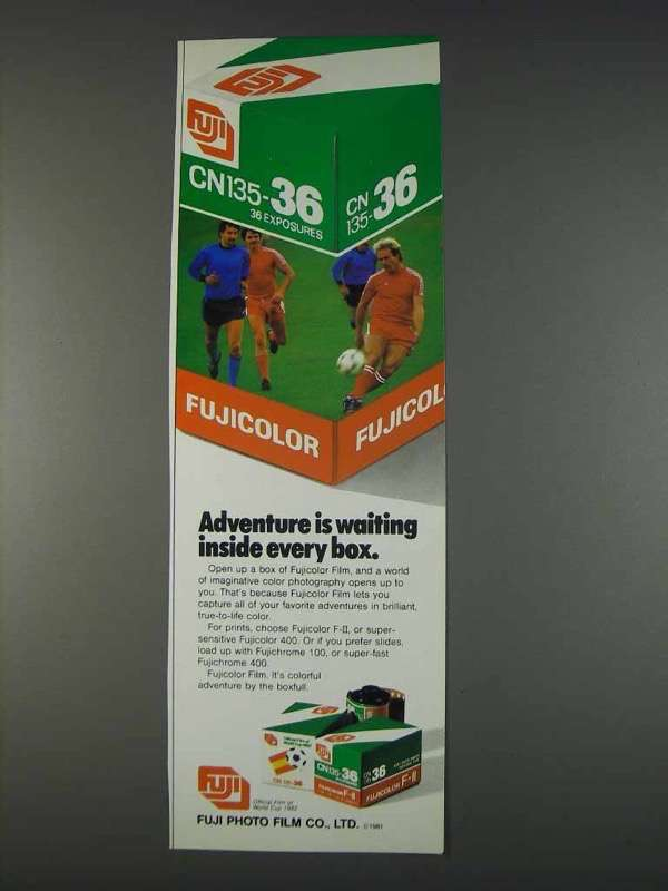 Primary image for 1982 Fuji Fujicolor Film Ad - Adventure is Waiting