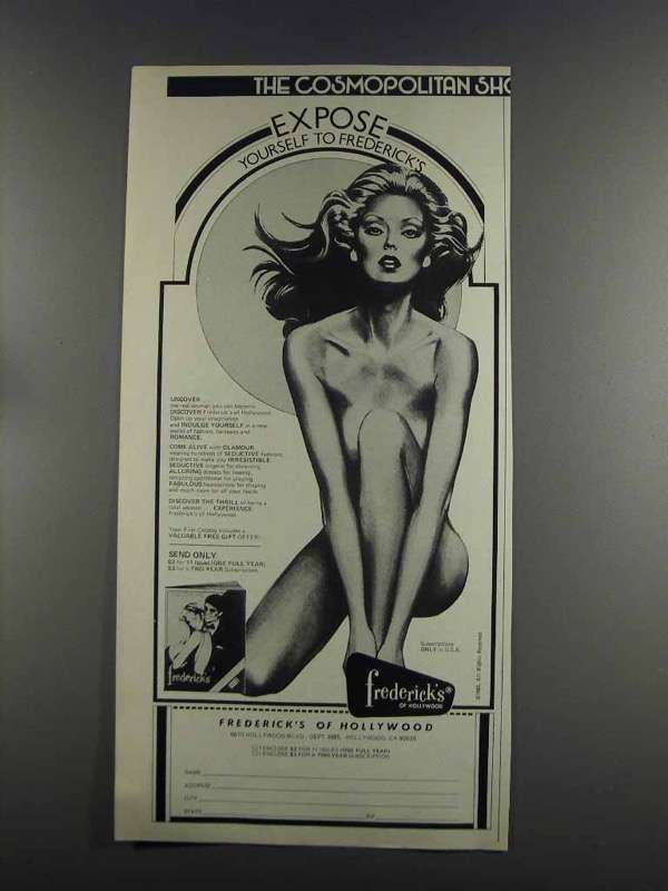 Primary image for 1982 Frederick's of Hollywood Lingerie Ad - Expose