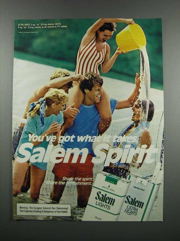 Primary image for 1983 Salem Cigarettes Ad - You've Got What It Takes