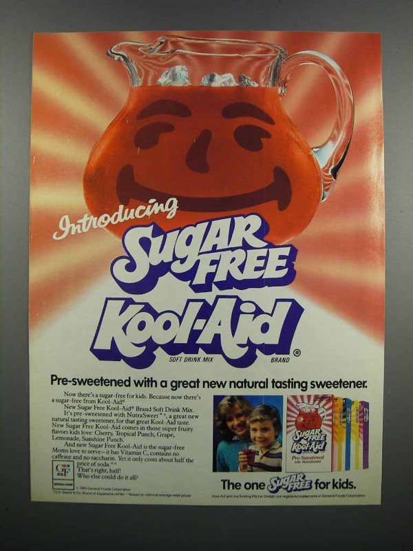 Primary image for 1983 Sugar Free Kool-Aid Ad - Introducing
