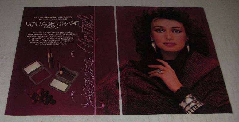 Primary image for 1982 Germaine Monteil Cosmetics Ad - Vintage Grape