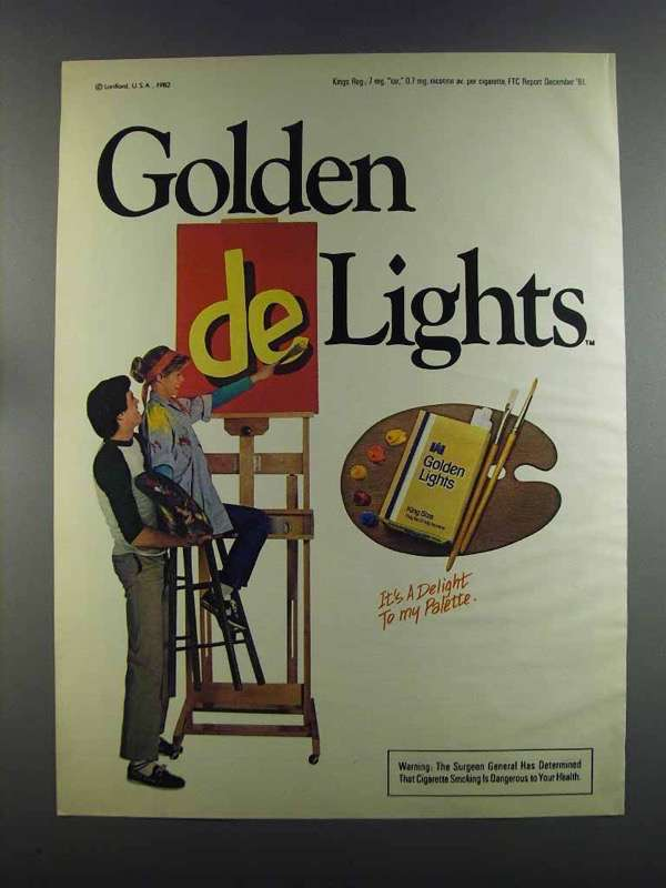Primary image for 1982 Golden Lights Cigarettes Ad