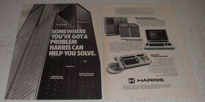 Primary image for 1982 Harris Super-Minicomputers & Terminals Ad