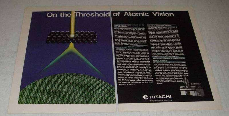 Primary image for 1982 Hitachi H-800 High Resolution Analytical TEM Ad