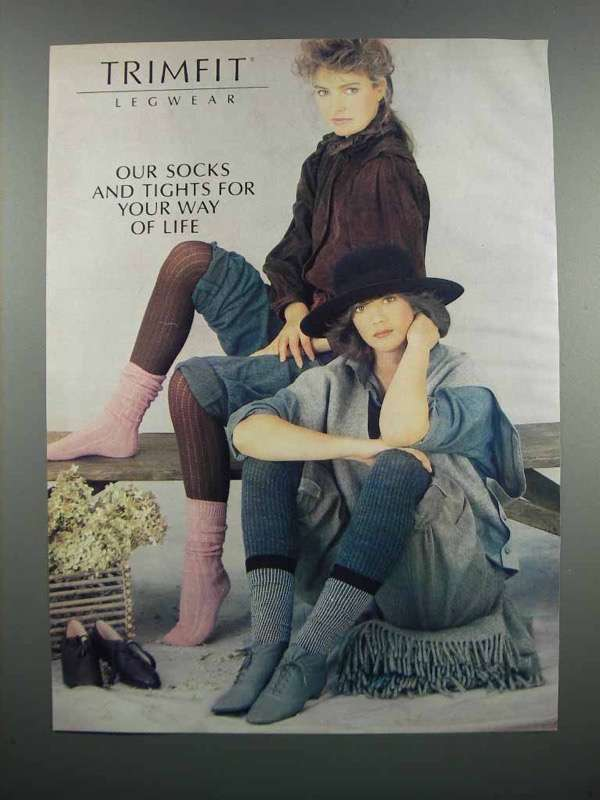 Primary image for 1983 Trimfit Legwear Ad - Our Socks and Tights