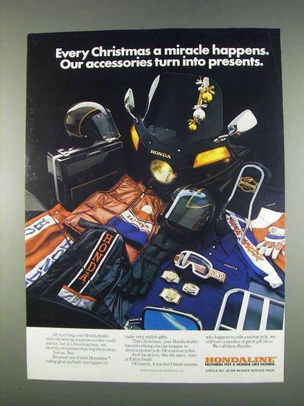 Primary image for 1982 Honda Motorcycle Accessories Ad - A Miracle