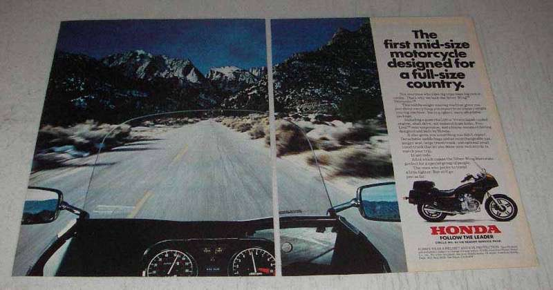 Primary image for 1982 Honda Silver Wing Interstate Motorcycle Ad