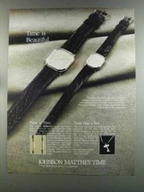 1982 Johnson Matthey Time Watch Ad - Time is Beautiful - $14.99