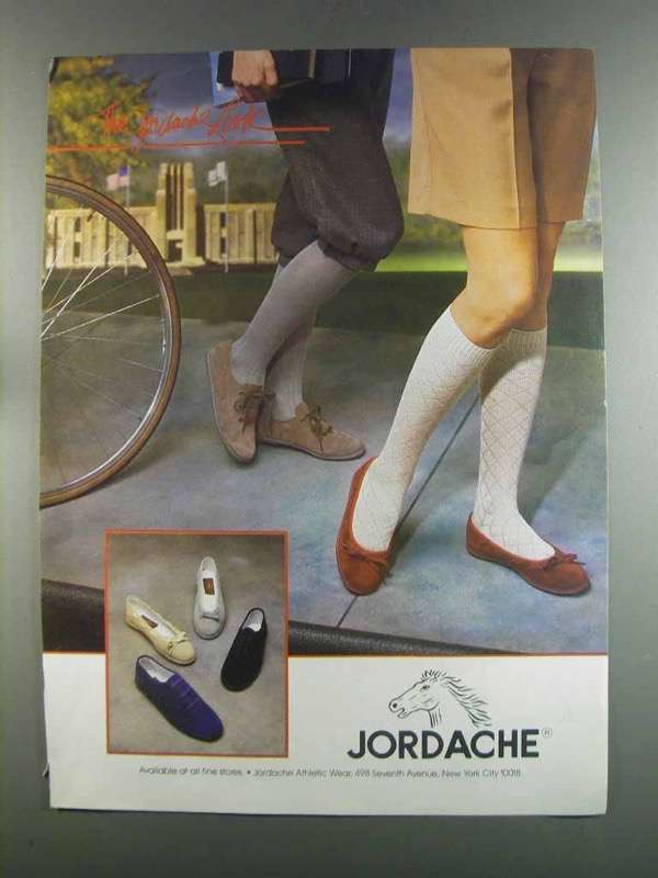 Primary image for 1982 Jordache Footwear Ad - The Jordache Look
