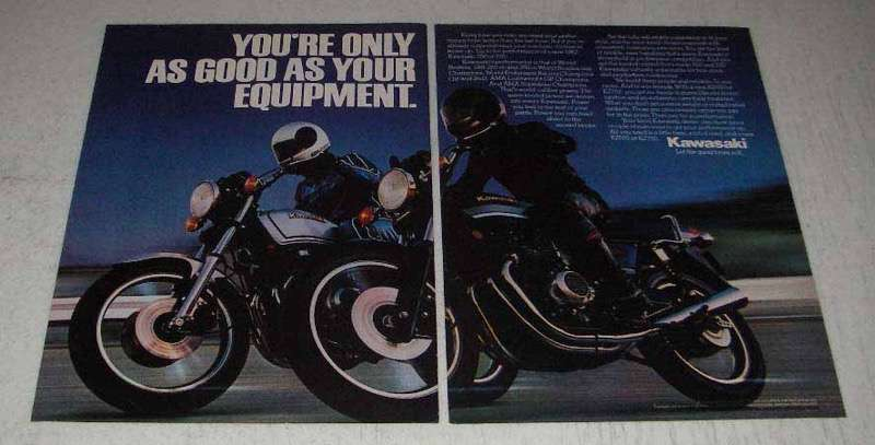 Primary image for 1982 Kawasaki 550 and 750 Motorcycles Ad - As Good