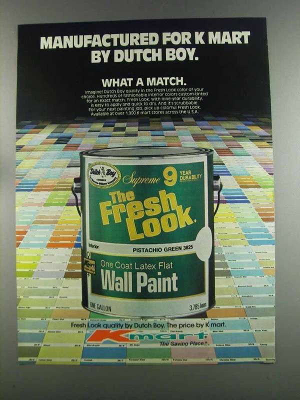 Primary image for 1982 Kmart Dutch Boy The Fresh Look Paint Ad