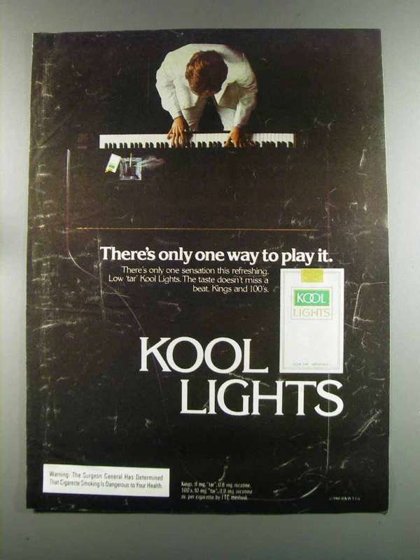 Primary image for 1982 Kool Lights Cigarettes Ad - Only One Way to Play
