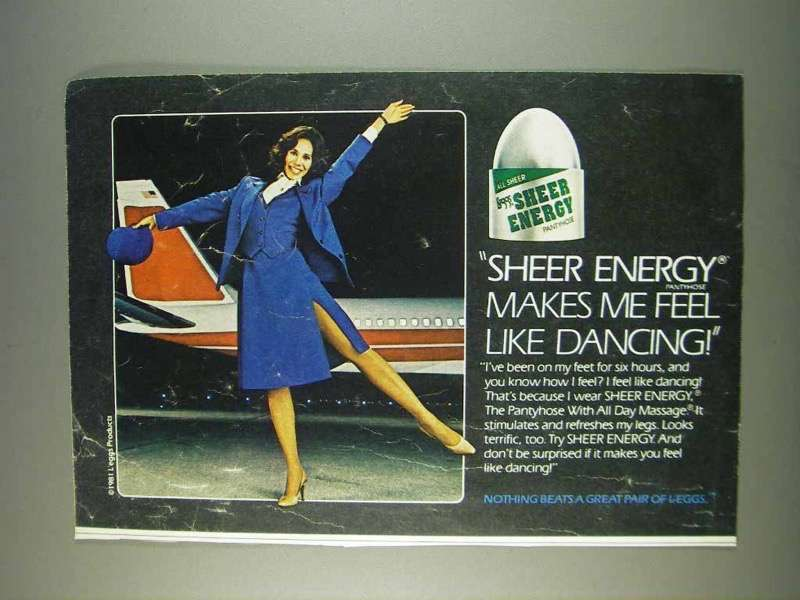 Primary image for 1982 L'eggs Sheer Energy Pantyhose Ad - Like Dancing