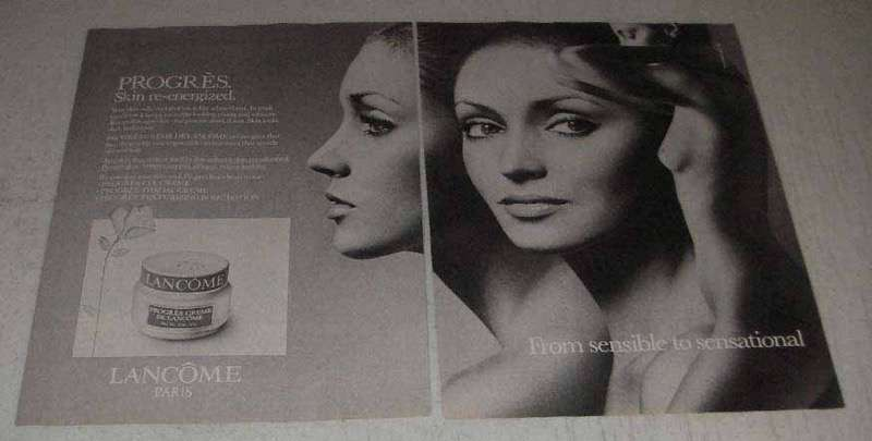 Primary image for 1982 Lancome Progres Crme de Lancome Ad - Re-Energized