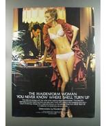 1982 Maidenform Delectables Bra and Bikini Ad - Turn Up - $14.99