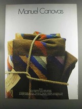 1982 Manuel Canovas Rugs Ad - $14.99