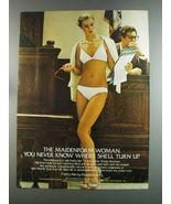 1982 Maidenform Pretty Me Front-Close Bra and Bikini Ad - $14.99