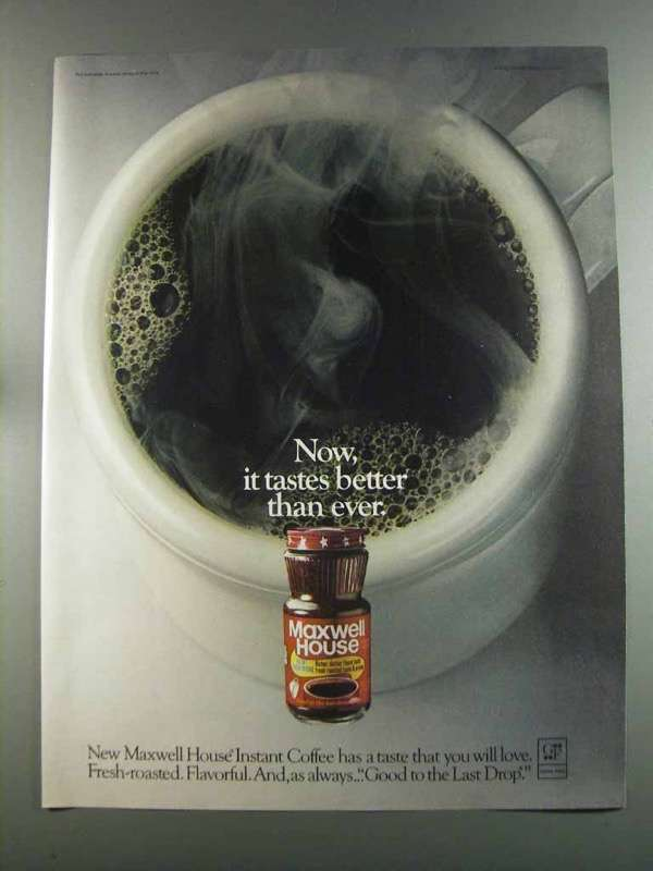 Primary image for 1982 Maxwell House Instant Coffee Ad - Tastes Better
