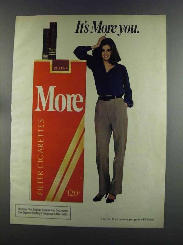 Primary image for 1982 More Cigarettes Ad - It's More You