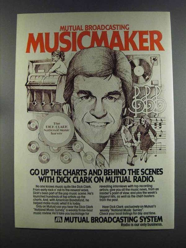 Primary image for 1982 Mutual Broadcasting System Ad - Dick Clark