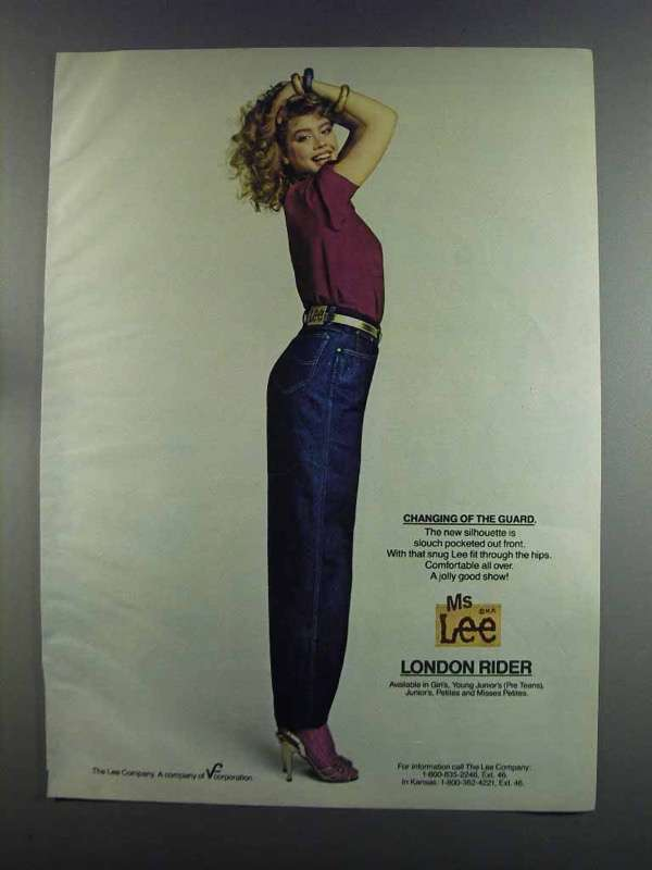 Primary image for 1982 Ms Lee London Rider Jeans Ad - Changing of Guard